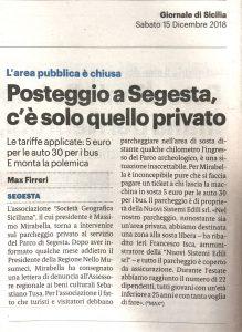 Giornale di Sicilia 15-12-2018